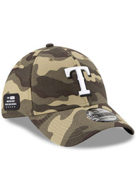 Texas Rangers New Era 2021 Armed Forces Day 39THIRTY Flex Hat - Green