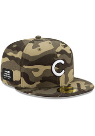 Chicago Cubs New Era 2021 Armed Forces Day 59FIFTY Fitted Hat - Green