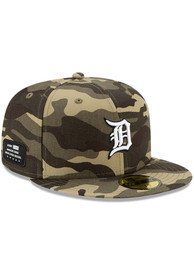 Detroit Tigers New Era 2021 Armed Forces Day 59FIFTY Fitted Hat - Green