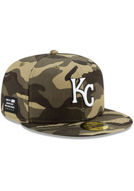 Kansas City Royals New Era 2021 Armed Forces Day 59FIFTY Fitted Hat - Green