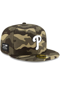Philadelphia Phillies New Era 2021 Armed Forces Day 59FIFTY Fitted Hat - Green