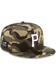 Pittsburgh Pirates New Era 2021 Armed Forces Day 59FIFTY Fitted Hat - Green
