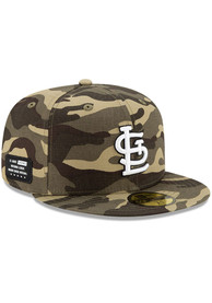 St Louis Cardinals New Era 2021 Armed Forces Day 59FIFTY Fitted Hat - Green