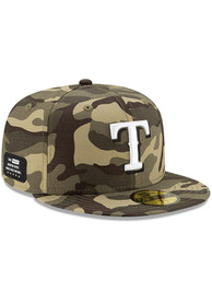 Texas Rangers New Era 2021 Armed Forces Day 59FIFTY Fitted Hat - Green