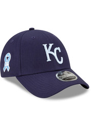 Kansas City Royals New Era 2021 Fathers Day SS9FORTY Adjustable Hat - Blue