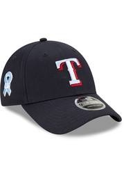 Texas Rangers New Era 2021 Fathers Day SS9FORTY Adjustable Hat - Blue