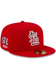 St Louis Cardinals New Era 2021 July 4th 59FIFTY Fitted Hat - Red