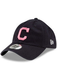 Cleveland Indians New Era 2021 Mothers Day Casual Classic Adjustable Hat - Navy Blue