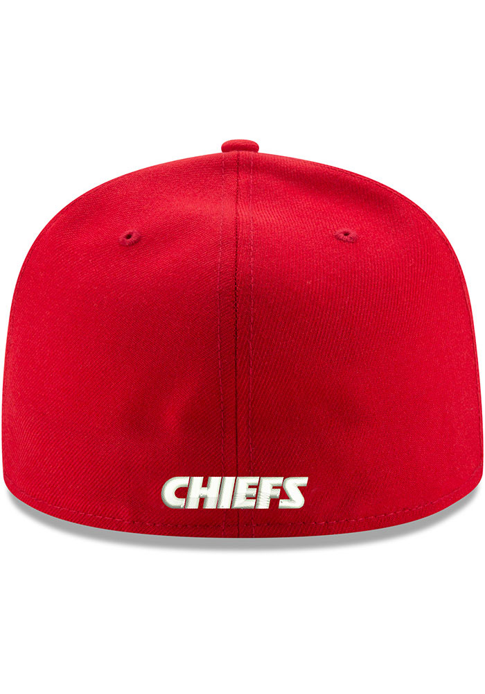 New Era Kansas City Chiefs Mens Red Super Bowl LIV Champions Side Patch 59FIFTY Fitted Hat - Image 4