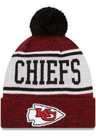 Kansas City Chiefs Youth New Era JR Banner Knit Hat - Red