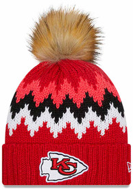 Kansas City Chiefs Womens New Era W Glacier Knit - Red
