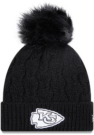 Kansas City Chiefs Womens New Era W Flurry Knit - Black