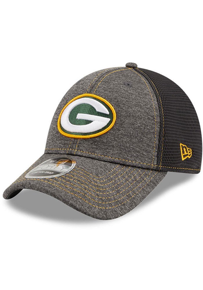 Green Bay Packers New Era STH Neo 9FORTY Adjustable Hat - Grey