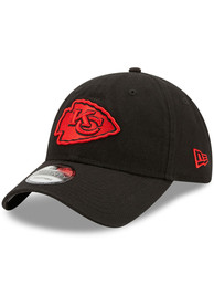 Kansas City Chiefs New Era Core Classic 9TWENTY Adjustable Hat - Black