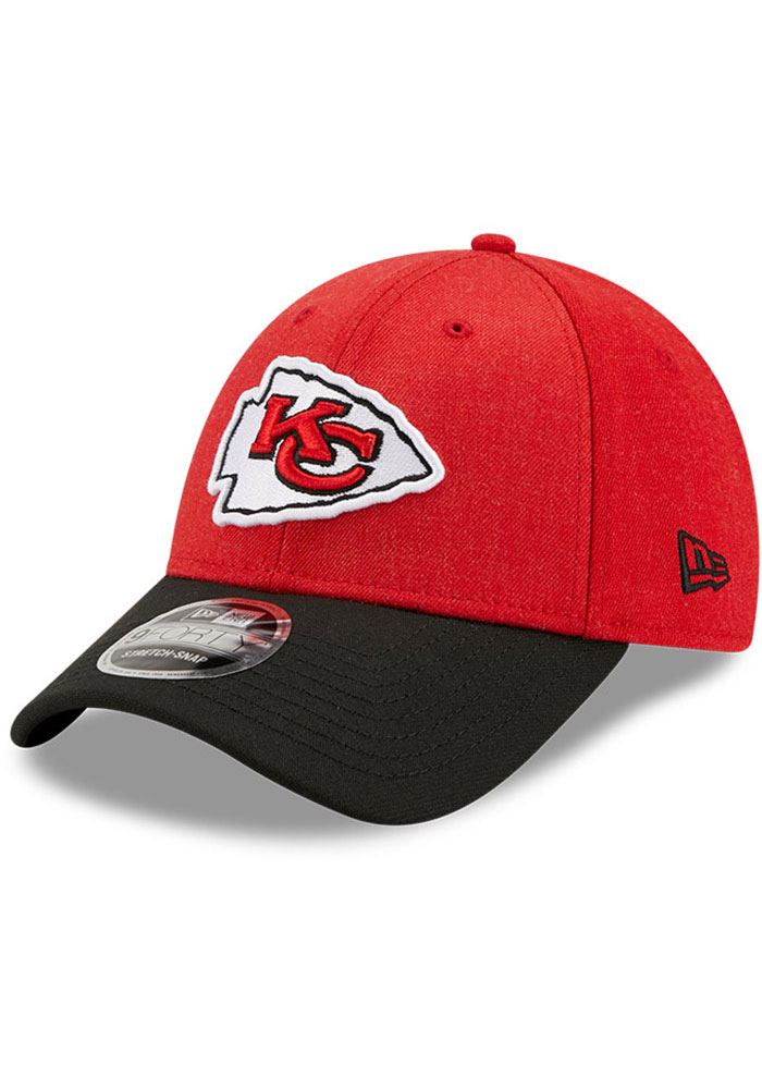Kansas City Chiefs New Era The League Heather 9FORTY Adjustable Hat - Red