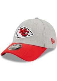 Kansas City Chiefs New Era The League Heather 9FORTY Adjustable Hat - Grey
