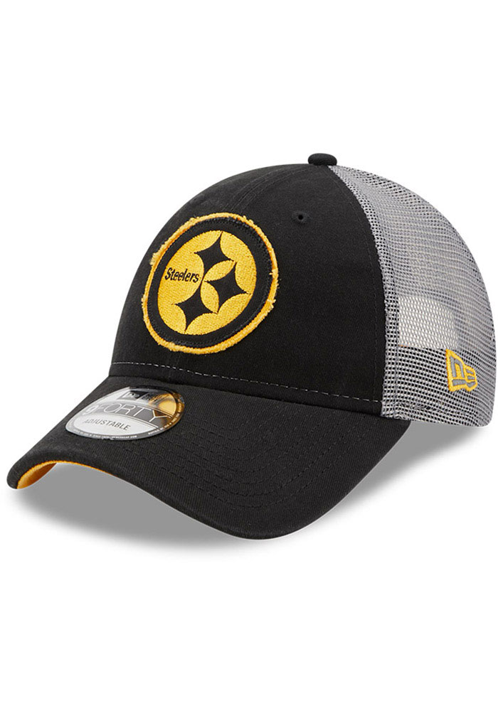 Pittsburgh Steelers New Era Rugged 9FORTY Adjustable Hat - Black