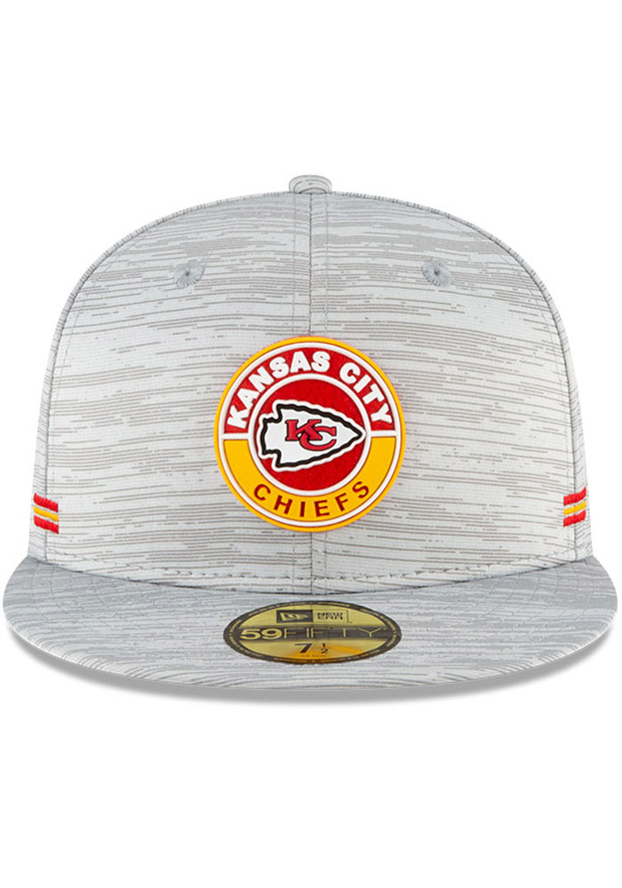 New Era Kansas City Chiefs Mens Grey NFL20 Official Sideline 59FIFTY Fitted Hat - Image 3