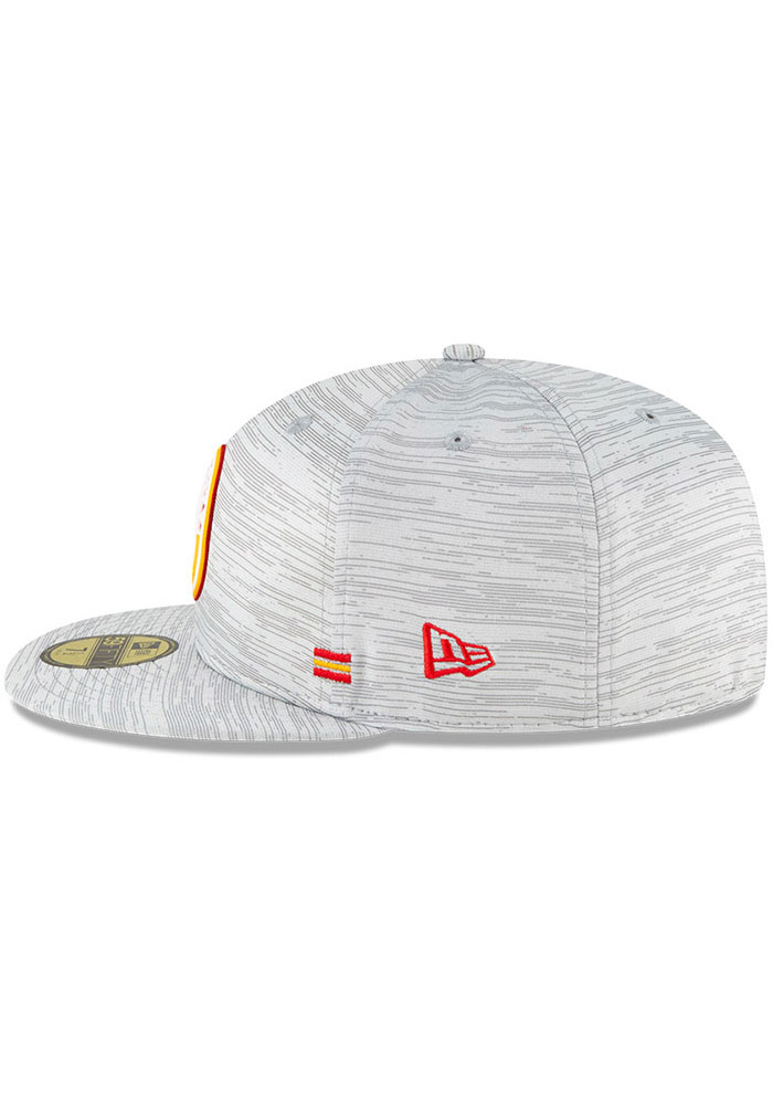 New Era Kansas City Chiefs Mens Grey NFL20 Official Sideline 59FIFTY Fitted Hat - Image 4