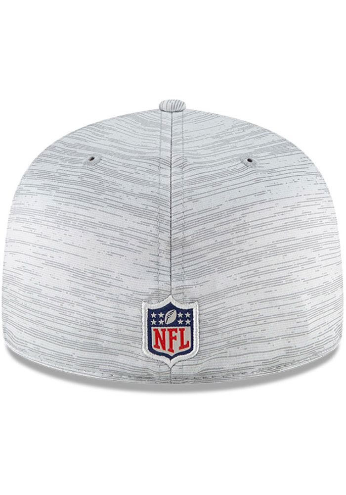 New Era Kansas City Chiefs Mens Grey NFL20 Official Sideline 59FIFTY Fitted Hat - Image 5