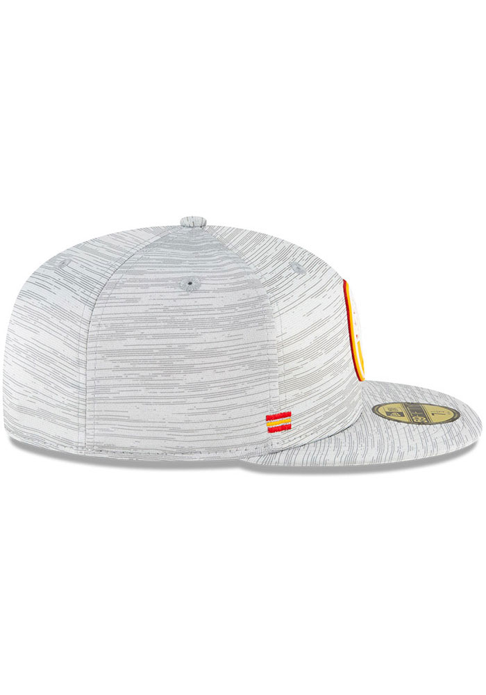 New Era Kansas City Chiefs Mens Grey NFL20 Official Sideline 59FIFTY Fitted Hat - Image 6