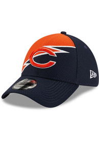 Chicago Bears New Era Bolt 39THIRTY Flex Hat - Navy Blue