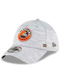 Cleveland Browns New Era NFL20 Official Sideline Road 39THIRTY Flex Hat - Grey
