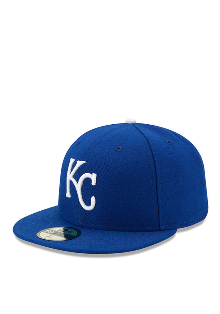 New Era Kansas City Royals Mens Blue Game AC 59FIFTY Fitted Hat - Image 1