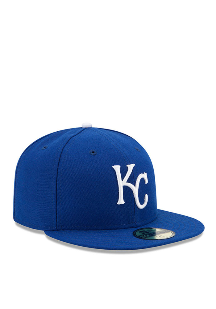 New Era Kansas City Royals Mens Blue Game AC 59FIFTY Fitted Hat - Image 2
