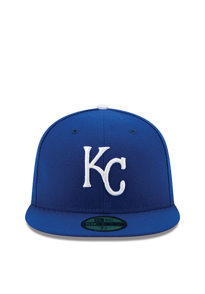 New Era Kansas City Royals Mens Blue Game AC 59FIFTY Fitted Hat - Image 3
