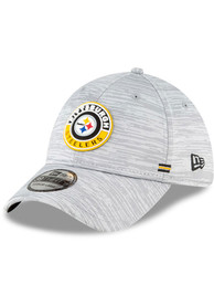 Pittsburgh Steelers New Era NFL20 Official Sideline Road 39THIRTY Flex Hat - Grey