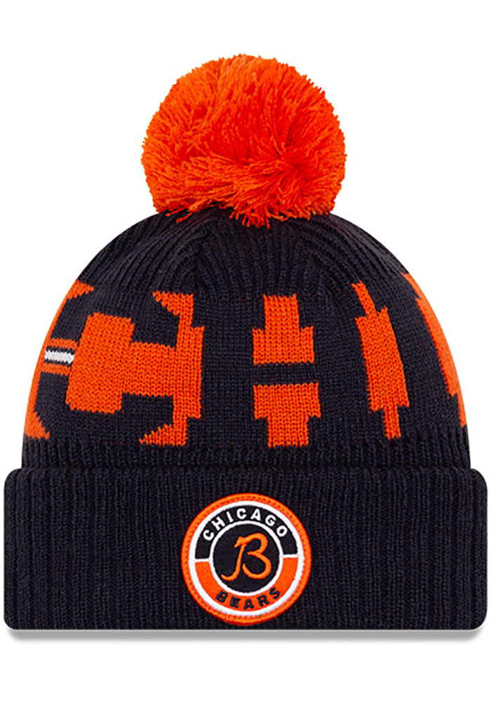 New Era Chicago Bears Navy Blue 2020 Official Sport Mens Knit Hat - Image 1