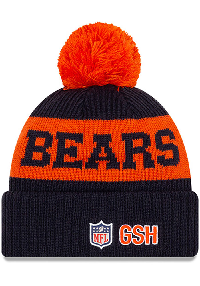 New Era Chicago Bears Navy Blue 2020 Official Sport Mens Knit Hat - Image 2