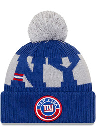 New York Giants New Era 2020 Official Sport Knit - Blue