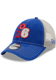 Philadelphia 76ers New Era Rugged 9FORTY Adjustable Hat - Blue