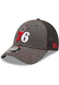 Philadelphia 76ers New Era STH Neo 9FORTY Adjustable Hat - Grey