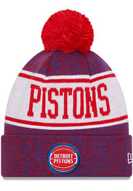 Detroit Pistons New Era Banner Knit - Blue
