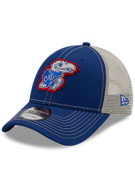 Kansas Jayhawks Toddler New Era JR TOD Rugged 9FORTY Adjustable - Blue