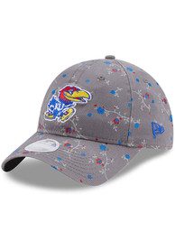 Kansas Jayhawks Toddler New Era JR TOD Blossom 9TWENTY Adjustable - Grey
