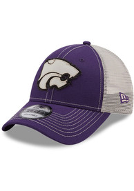 K-State Wildcats Youth New Era JR Rugged 9FORTY Adjustable Hat - Purple