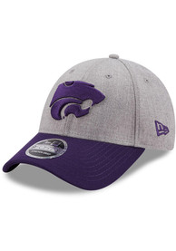 K-State Wildcats New Era The League Heather 9FORTY Adjustable Hat - Grey