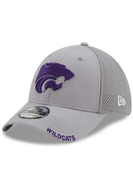 K-State Wildcats New Era Classic Neo 39THIRTY Flex Hat - Grey