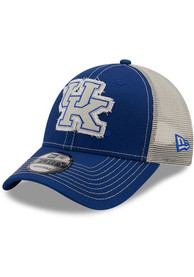 Kentucky Wildcats New Era Rugged 9FORTY Adjustable Hat - Blue