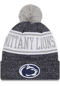Penn State Nittany Lions Youth New Era JR Banner Knit Hat - Navy Blue