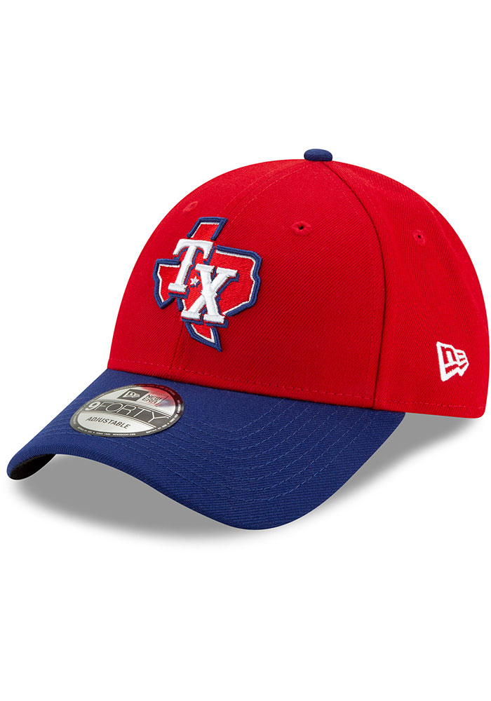 New Era Texas Rangers 2T Alt 3 The League 9FORTY Adjustable Hat - Red - Image 1