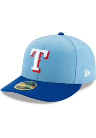Texas Rangers New Era 2T Alt 2 AC LP59FIFTY Fitted Hat - Light Blue