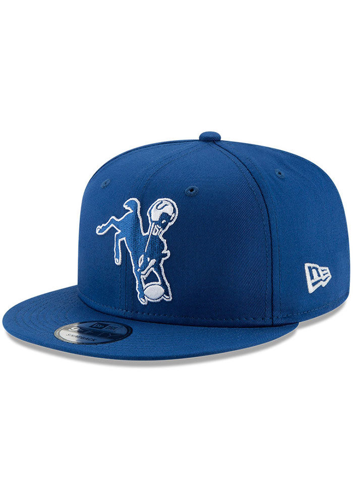 New Era Indianapolis Colts Blue Retro 9FIFTY Mens Snapback Hat - Image 1