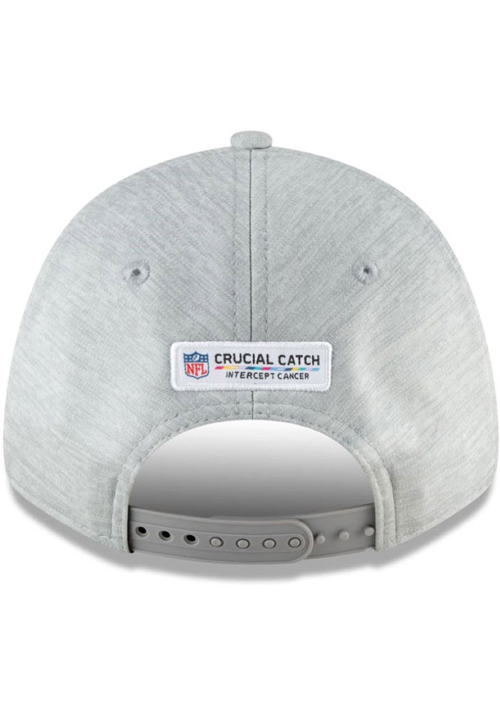 New Era Kansas City Chiefs 2020 Crucial Catch SS 9FORTY Adjustable Hat - Grey - Image 2
