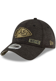Kansas City Chiefs New Era 2020 Salute to Service 9TWENTY Adjustable Hat - Black