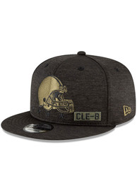 Cleveland Browns New Era 2020 Salute to Service 9FIFTY Snapback - Black